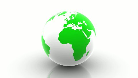 Rotating Green Earth. - stock footage