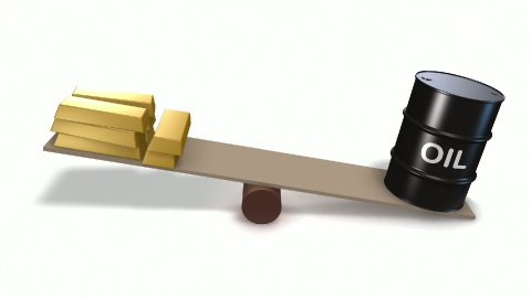 Oil barrel and gold ingots on seesaw. Loops - stock footage