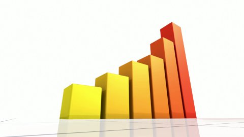 Animated Bar Graph. - stock footage