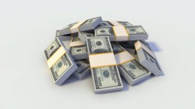 Looping Stack of Dollar Bills. - editable clip, motion graphic, stock footage