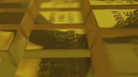 Looping Gold Bullions. - stock footage