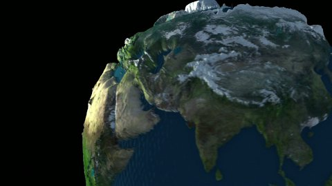 Rotating Earth Globe. Looping. - stock footage