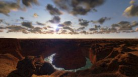 Grand Canyon timelapse sunset day to night - motion graphic