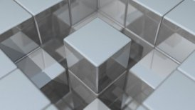 Reflective Walls Center Rotation - motion graphic