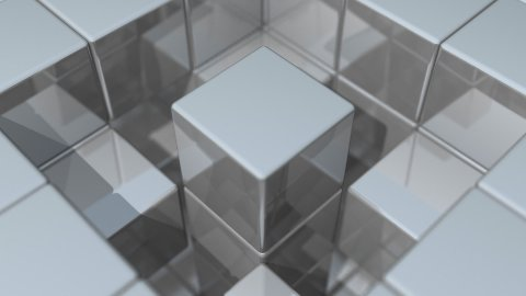 Reflective Walls Center Rotation - stock footage