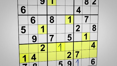 montage of solving sudoku puzzle animation - stock footage
