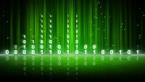 green digital data equalizer background loop - stock footage