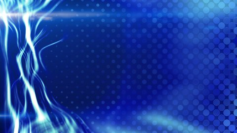 blue energy light beam flowing loop - stock footage