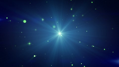 light and flying particles blue loop background - stock footage