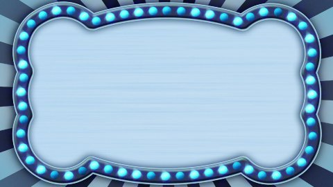 flash light blue marquee loop - stock footage