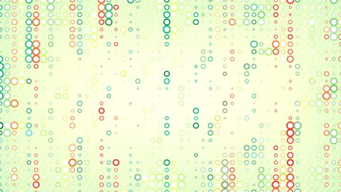 colorful circles pattern loop - stock footage