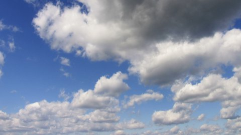 timelapse clouds loopable - stock footage