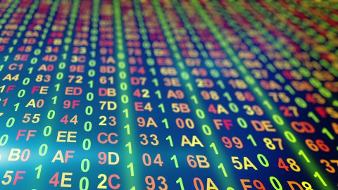 digital data columns loopable background - stock footage