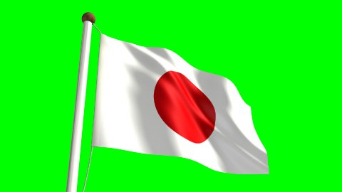Japan flag - stock footage