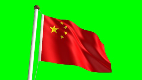 China flag - stock footage