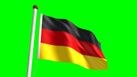 Germany flag - stock footage