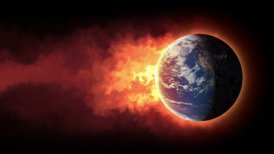 Burning globe - editable clip, motion graphic, stock footage