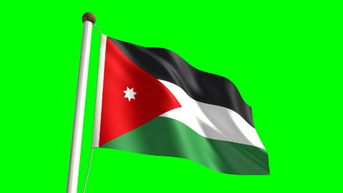 Jordan flag - stock footage