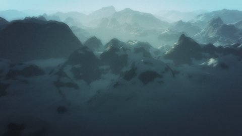Misty mountains - stock footage