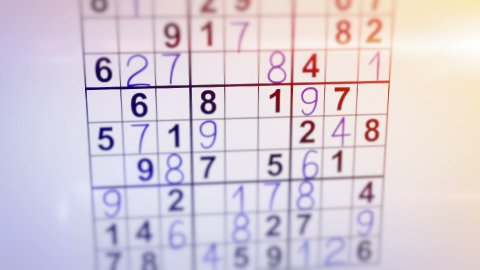 solving sudoku puzzle animation - stock footage