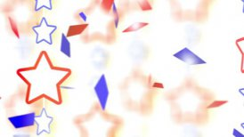 red blue stars and confetti montage - motion graphic