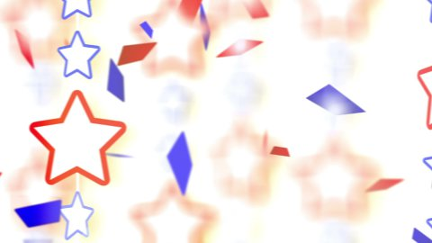 red blue stars and confetti montage - stock footage