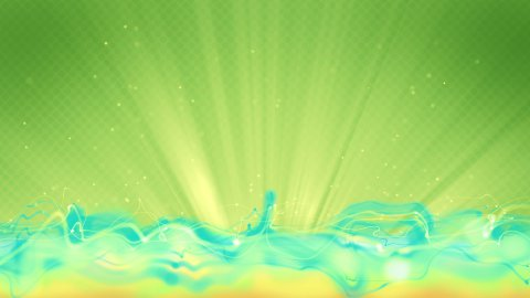 cyan flow and green background loop - stock footage