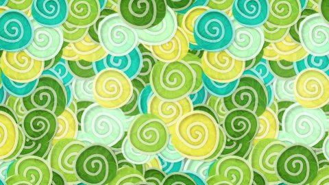 yellow green cyan curles ornatment loop background - stock footage