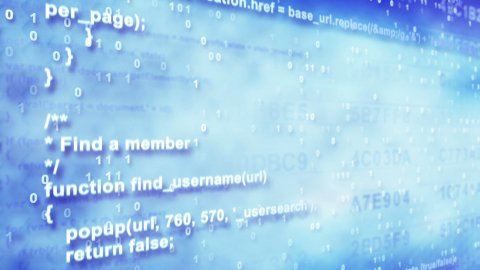 program code loopable background - stock footage