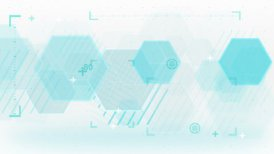 blue abstract technology loop background - motion graphic