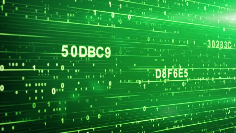 green digital code animation - stock footage