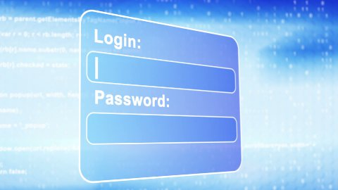 web page login animation - stock footage