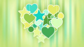 heart shape concept loop background luma matte