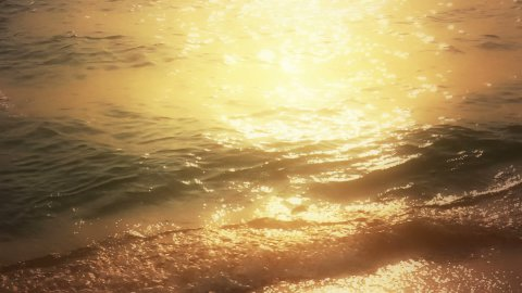 Romantic Waves at Sunset - stock footage