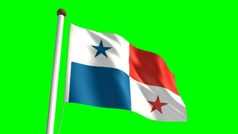 Panama flag - stock footage