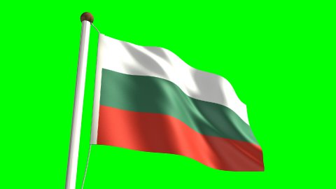 Bulgaria flag - stock footage