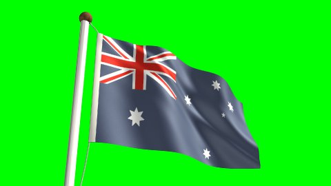 Australia flag - stock footage