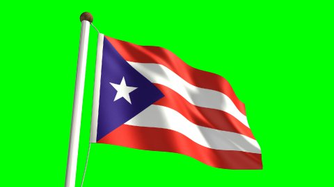 Puerto Rico flag - stock footage