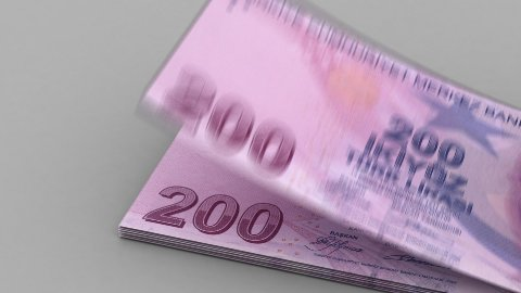 Counting Turkish Lira - stock footage