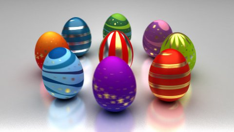Easter Eggs Turning Around - stock footage