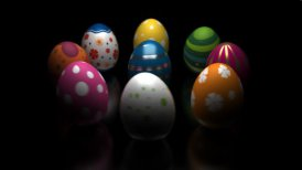 Easter Eggs Turning Around - motion graphic