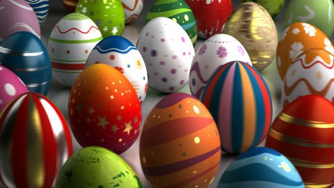 Easter Eggs Dancing - stock footage