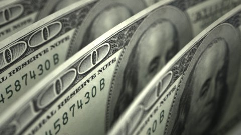 Dollar Close-up - stock footage