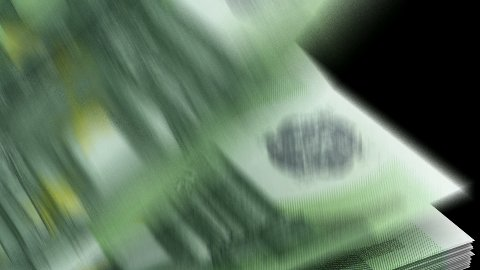 Counting Euro - stock footage
