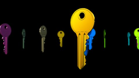 Finding the right key - stock footage