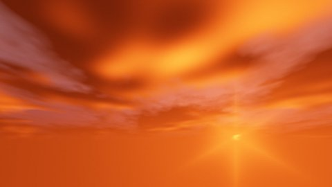 Orange cloudy - stock footage