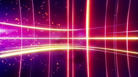 glowing stripes red loopable background - stock footage