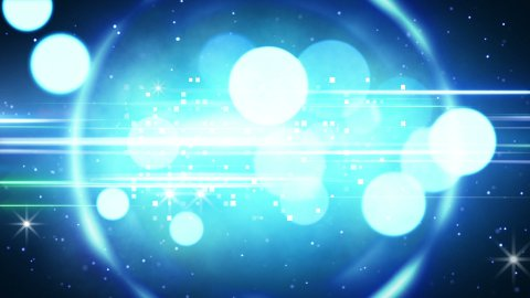 blue circles and glares loopable background - stock footage