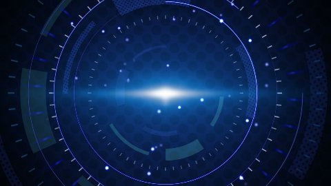 blue techno circles loop background - stock footage
