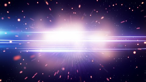 light and glowing particles loop background - stock footage
